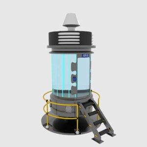 3D model sci-fi prison cell