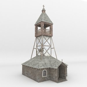 house church 008 low-poly 3D model