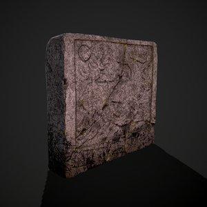 3D grave stone version 2
