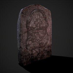 grave stone version 1 3D