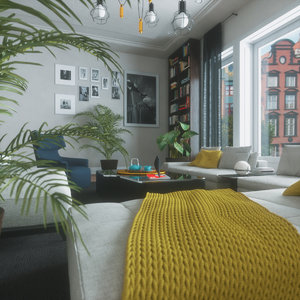 3D living room blender