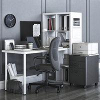IKEA KALLAX office workplace with FLINTAN chair
