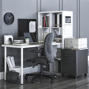office kallax flintan chair 3D model