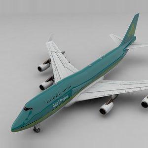 3D boeing 747 aer lingus