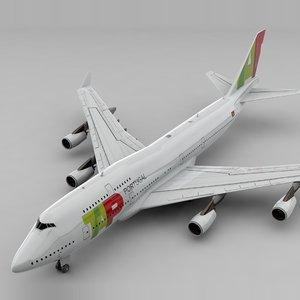 3D boeing 747 tap air model