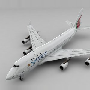 3D model boeing 747 sri lankan