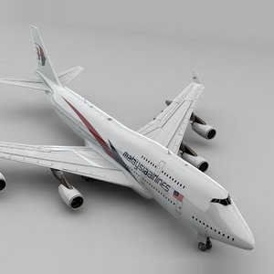 boeing 747 malaysia airlines 3D