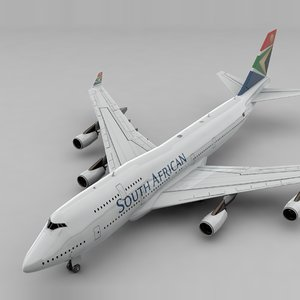 boeing 747 south african model