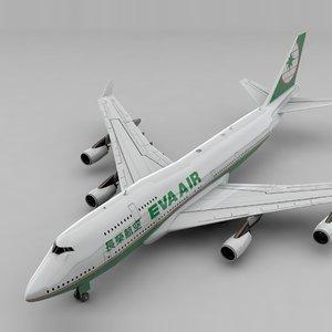 boeing 747 eva air model