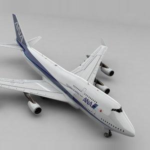 boeing 747 ana l836 3D model