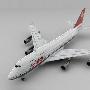 boeing 747 swissair l837 3D