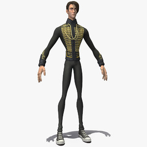 3D cartoon man cavalry jacket