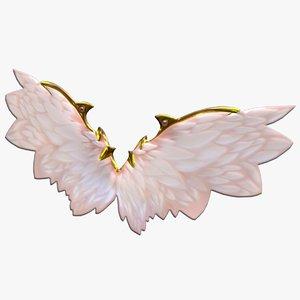 3D fairy angel wings model