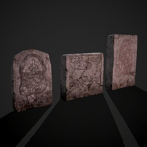 3D stone 3 model