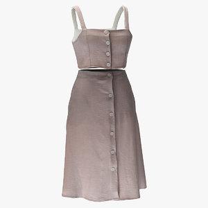 3D skirt dress cloth model