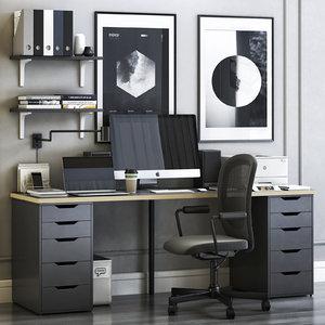 3D office alex flintan chair