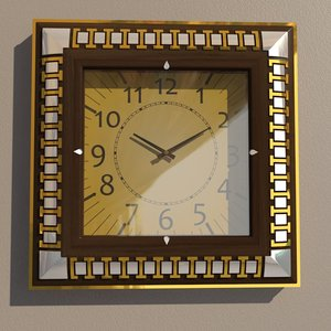 square wall clock model