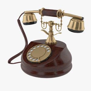 retro phone 3D model