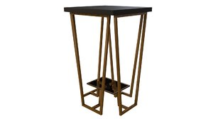 3D model agnes accent table uttermost
