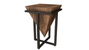 3D accent table uttermost