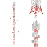 Radio Mast - Antenna Communication Tower