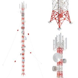 antenna communication tower 3D model