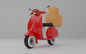 3D model scooter delivery
