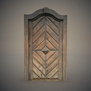 medieval wooden door 3D