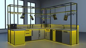 bar highschool high-tech 3D