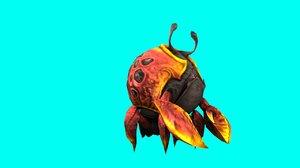tasmanian giant crab rigged 3D