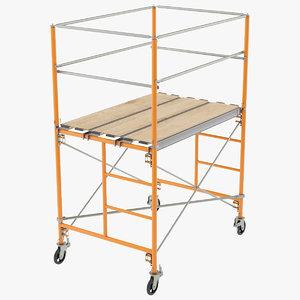 3D scaffolding settings model