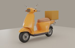 yellow scooter 3D