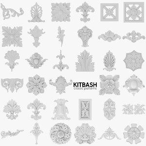 35 classic pattern 3D model