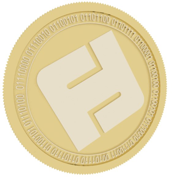 folgory coin gold 3D model