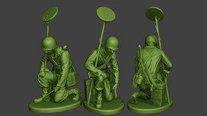 3D american soldier ww2 engineer