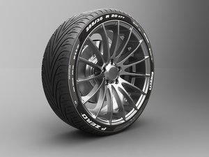 tire- wheel- 3D model