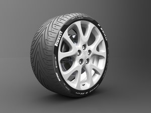 3D tire-wheel-car-auto-race-formula