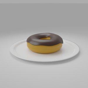 3D model donut plate