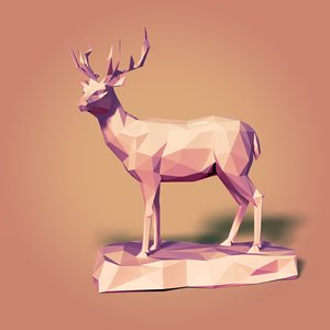 deer cartoon 3D model