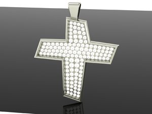 luxurious modern cross 3D model