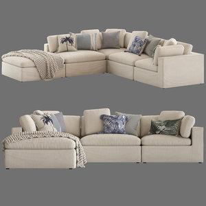 freedom salsie 5-seater sofa 3D