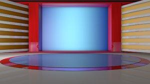virtual set tv 3D