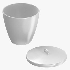 3D crucible 300ml open 02 model
