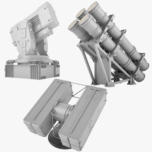 mk 01 guided missile 3D