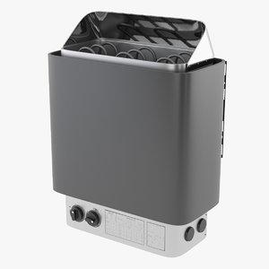 3D sauna heater