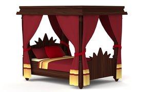 medieval royal wooden 3D