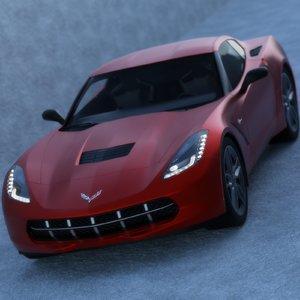 car corvette 3D model
