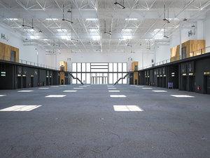 3D exhibition hall interior