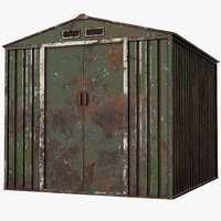 Rusty Metal Shed