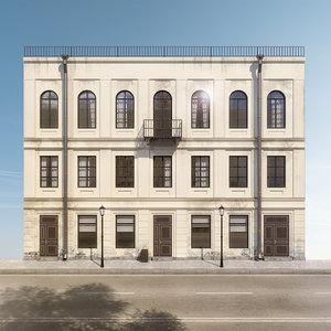 facade road 3D model